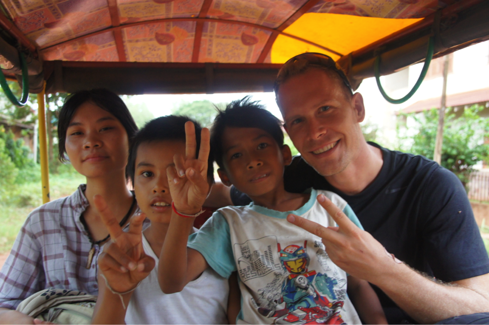 Tim at a return mission to Cambodia.