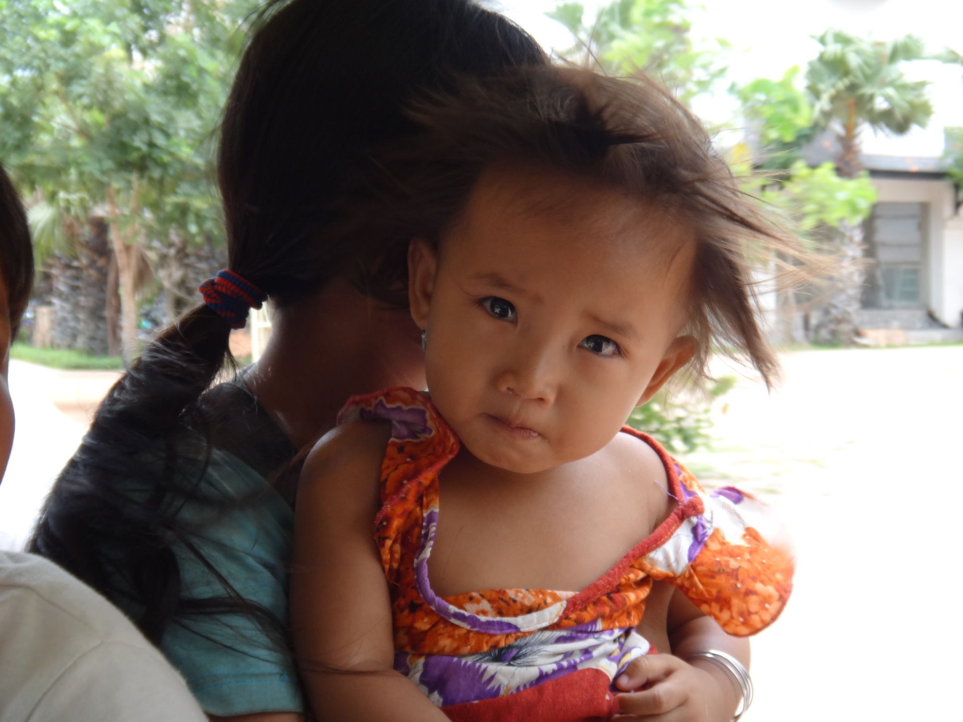 The crying eyes of a baby that doesn't get the nutrition she needs to grow properly is heart breaking. Did you know that a child who suffers from malnutrition will grow 30-40% less brain capability? Siem Reap, Cambodia.