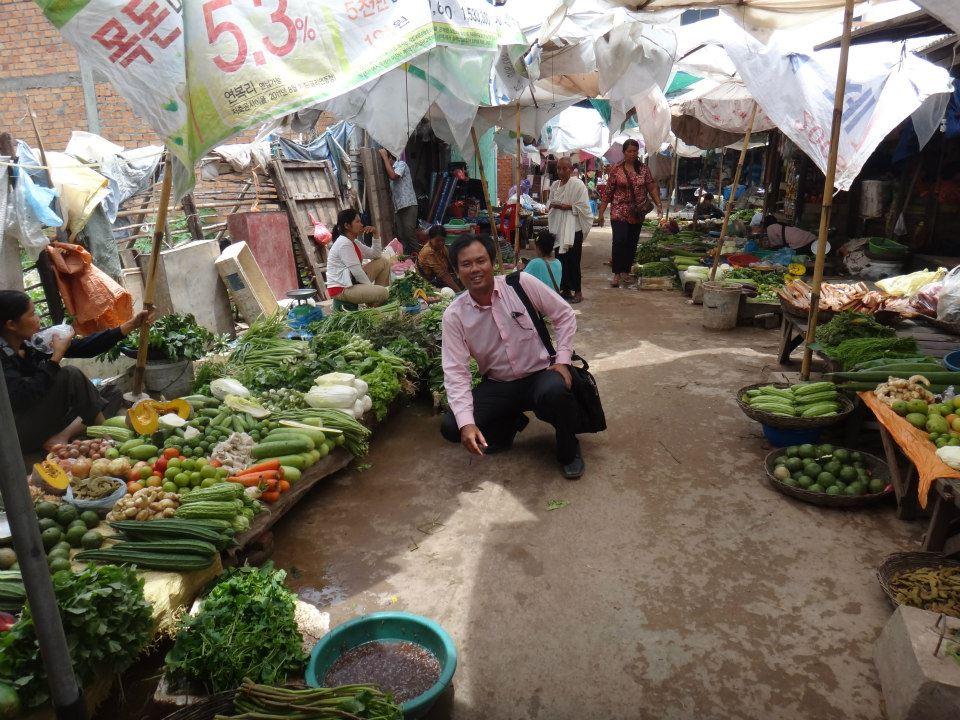 Buying fresh food.