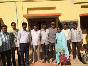 Patrick with the community leaders of Panchayat